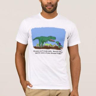 Os dinossauros conhecem o latino camiseta