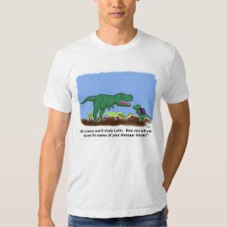 Os dinossauros conhecem o latino camisetas