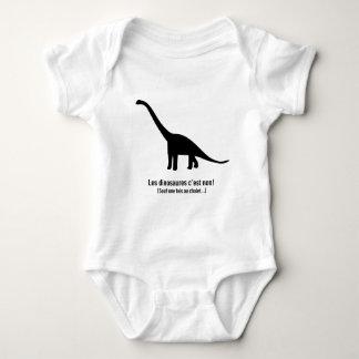 Os dinossauros é não! body para bebê