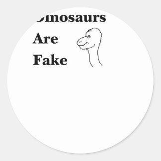 Os dinossauros são falsificação adesivo