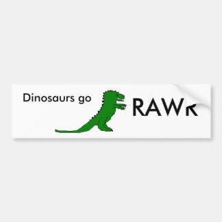 Os dinossauros vão, RAWR Adesivo Para Carro