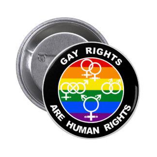 Os direitos dos homossexuais são direitos humanos bóton redondo 5.08cm