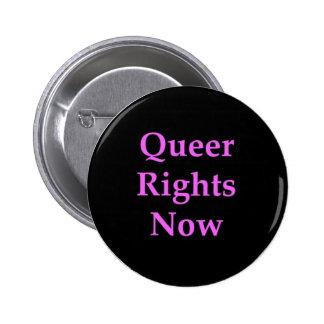 Os direitos estranhos abotoam-se agora boton