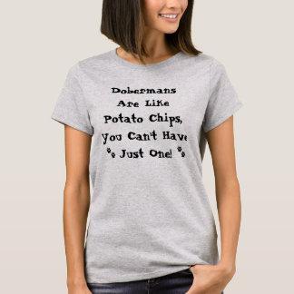 Os Dobermans são como a camisa das microplaquetas