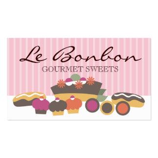Os doces da padaria endurecem o ônibus dos modelos cartao de visita