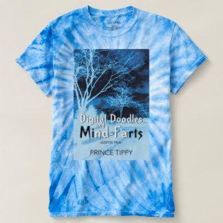 os doodles digitais e mente-farts hippie-t camiseta