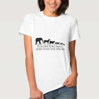Os doutores reais (veterinários) tratam mais de camisetas