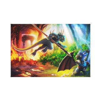 Os dragões da cópia das canvas de Fyremantle