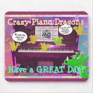 Os dragões loucos do piano dizem têm um grande dia mouse pad
