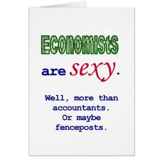 """Os economistas são """"sexy"""" cartão comemorativo"""