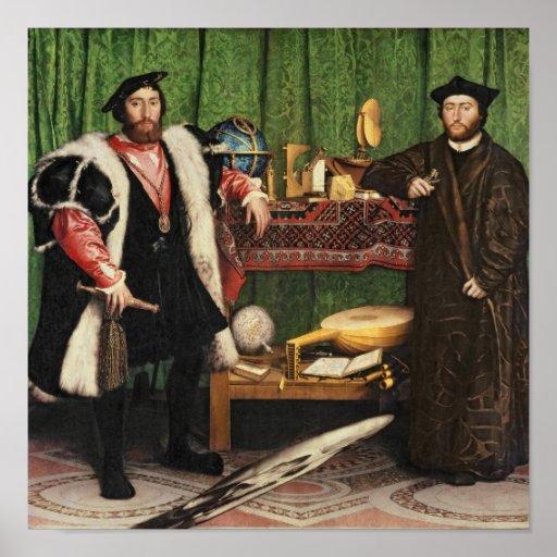 Os embaixadores, 1533 impressão