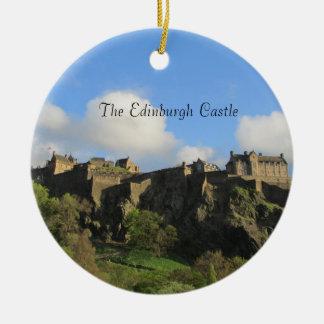 Os enfeites de natal do castelo de Edimburgo
