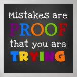 Os erros são prova que você está tentando o poster