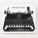 Os escritores escrevem a máquina de escrever Mouse Mousepad