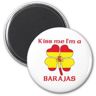 Os espanhóis personalizados beijam-me que eu sou B Ímã Redondo 5.08cm