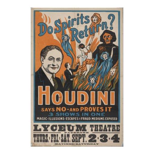 Os espírito retornam? Houdini diz não e prova-o Impressão Fotográfica