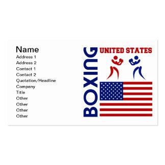 Os Estados Unidos Boxin Cartões De Visitas