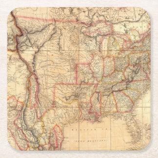 Os Estados Unidos da América 12 Porta-copo De Papel Quadrado