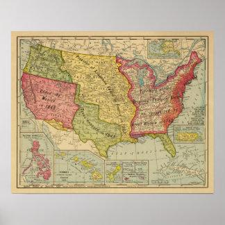 Os Estados Unidos da América, 1900 Pôster