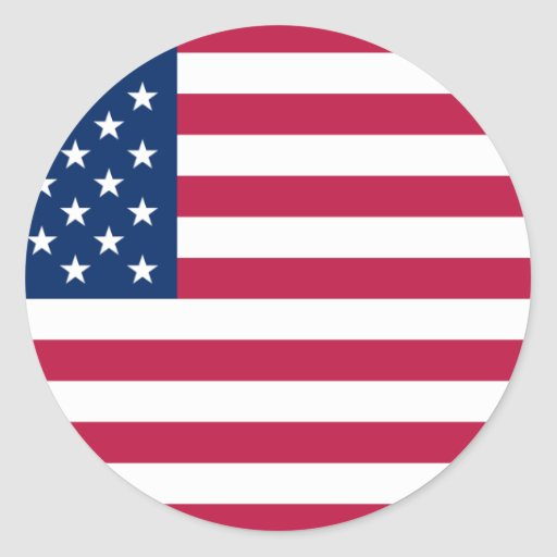 Os Estados Unidos da América Adesivos Redondos