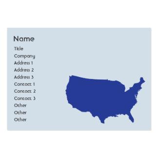 Os Estados Unidos da América - carnudos Cartão De Visita Grande
