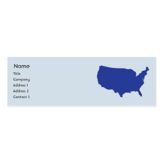 Os Estados Unidos da América - magros Cartoes De Visita