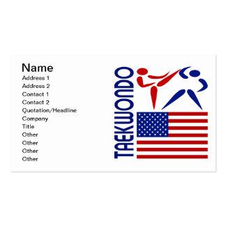 Os Estados Unidos de Taekwondo Cartões De Visitas
