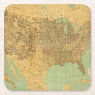 Os Estados Unidos e territórios Porta-copo De Papel Quadrado