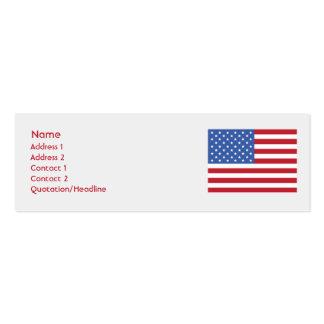 Os Estados Unidos - magros Cartoes De Visitas
