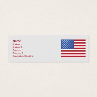 Os Estados Unidos - magros Cartão De Visitas Mini