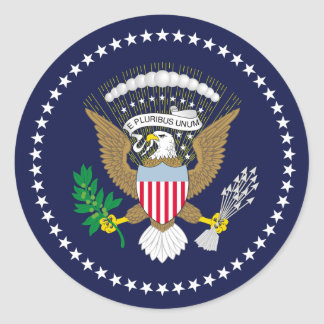 Os Estados Unidos presidenciais Adesivos Redondos