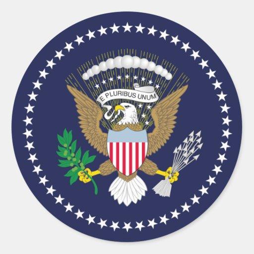 Os Estados Unidos presidenciais Adesivos Em Formato Redondos