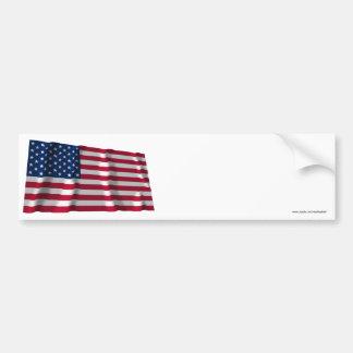 Os Estados Unidos que acenam a bandeira Adesivo
