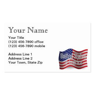 Os Estados Unidos que acenam a bandeira Cartão De Visita