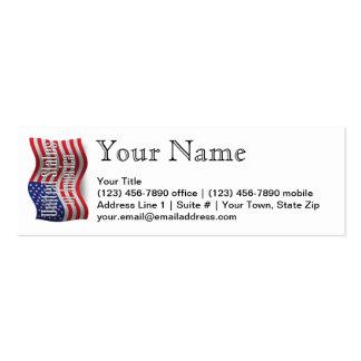 Os Estados Unidos que acenam a bandeira Cartão De Visita Skinny