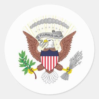 Os Estados Unidos vice-presidenciais Adesivos Redondos