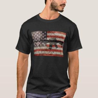 Os EUA embandeiram & atiram no t-shirt Camiseta