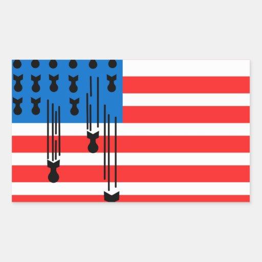 Os EUA embandeiram com bombas de queda Adesivo Retângular