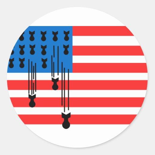 Os EUA embandeiram com bombas de queda Adesivo Redondo