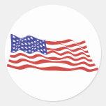 Os EUA embandeiram grandes folhas da etiqueta Adesivo Redondo