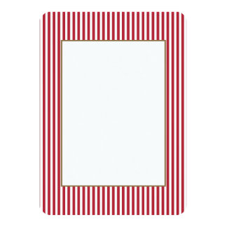 Os EUA embandeiram listras vermelhas e brancas Convite 11.30 X 15.87cm