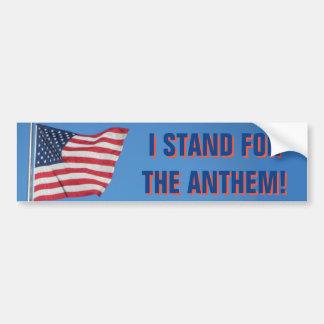 Os EUA embandeiram-me representam o azul do hino Adesivo Para Carro
