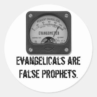 Os Evangelicals são profetas falsos Adesivo Em Formato Redondo