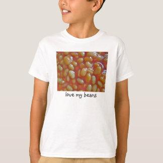 Os feijões cozidos amam meus miúdos da camiseta