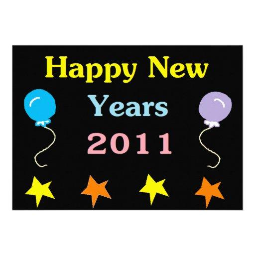 Os felizes anos novos 2011 convites personalizado