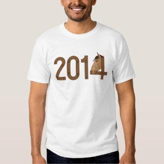 Os felizes anos novos 2014 tshirts