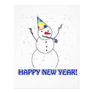 Os felizes anos novos do boneco de neve panfletos personalizados