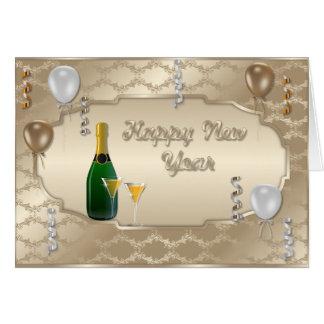 Os felizes anos novos do cartão