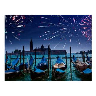 Os felizes anos novos do cartão de Veneza