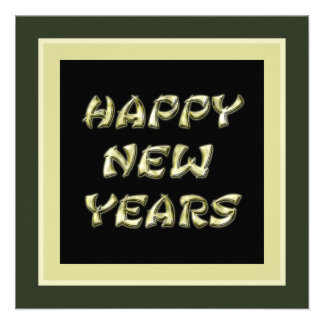os felizes anos novos do ouro convites personalizados